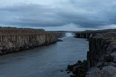 Further parts of the Dettifoss waterfall Royalty Free Stock Photo