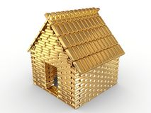 Golden house. Gold, it makes the world go 'round Stock Images