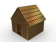 Golden house. Gold, it makes the world go 'round Royalty Free Stock Image