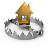 Golden house on bear trap Stock Image