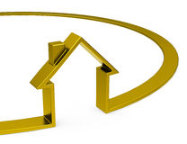 The golden house Royalty Free Stock Image