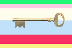 Golden house key Stock Photos