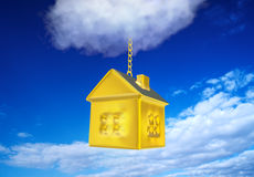 Golden House from the Sky Royalty Free Stock Photos
