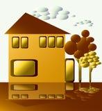 Golden House. Stock Image
