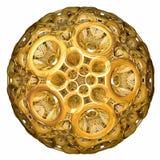 Golden hyperbolic tessellation Stock Image
