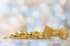 Golden icicles Stock Photo