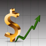 Golden icon dollar  Royalty Free Stock Images