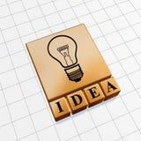 Golden icon idea Stock Photos