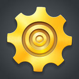 Golden icon of settings Royalty Free Stock Image