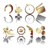 Golden icons Stock Image