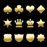 Golden Icons Stock Photos