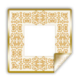 Golden illustrated sticker/frame Royalty Free Stock Photo
