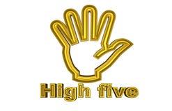 Golden Illustration of High five stock illustration