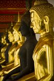 Golden image of Buddha Royalty Free Stock Images