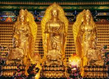 Golden image of chainese buddha Stock Images