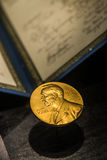 Golden image of the Nobel Prize Royalty Free Stock Images
