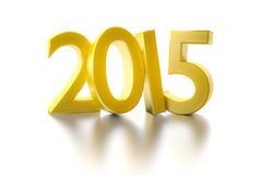 Golden 2015. An image of a golden number 2015 Stock Images