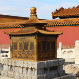 Golden incense burner in the Imperial Palace Stock Photo