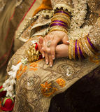 Golden indian bride Royalty Free Stock Photo