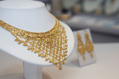 Golden indian jewellery Royalty Free Stock Photo
