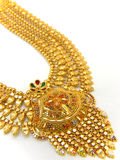 Golden Indian necklace Royalty Free Stock Images