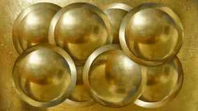 Golden industral balls background royalty free stock image