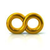 Golden infinity symbol icon Stock Photos