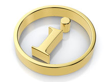 Golden info symbol Royalty Free Stock Images