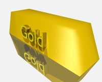 Golden ingot Royalty Free Stock Photography