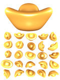 Golden ingots Royalty Free Stock Image