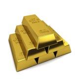 Golden ingots Stock Images