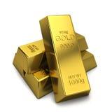 Golden ingots Stock Photo