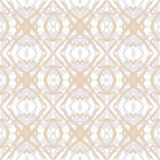 Golden ink shapes on silver, seamless pattern Royalty Free Stock Photo