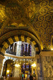Golden interior of the Aachen Cathedral Stock Photo