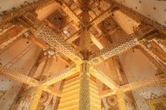 Golden interior architecture of wat Nong Bua Stock Images