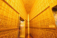 Golden interior. Royalty Free Stock Image