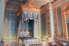 Golden interior of the front bedrooms. Visit the Gatchina Palace as part of a cultural forum in St. Petersburg Royalty Free Stock Images