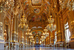 Golden Interior of Opera Garnier royalty free stock images