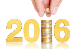 Golden 2016,investor concept Stock Photography