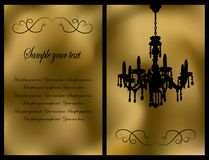 Golden invitation Royalty Free Stock Image
