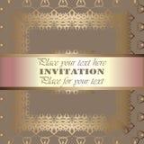 Golden invitation Royalty Free Stock Photography