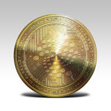 Golden iota coin  on white background 3d rendering Stock Images