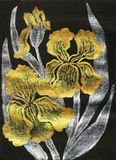 Golden irises, painting Stock Images