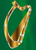 Golden Irish Harp Stock Photos