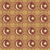 Golden islamic seamless pattern Stock Photos