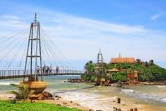 Golden Island Paravi Duwa Temple, Matara Sri Lanka Royalty Free Stock Photography
