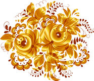 Golden isolated vector floral element Royalty Free Stock Images