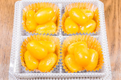 Golden Jackfruit Seeds,Met Khanoon: THAI Dessert Royalty Free Stock Images