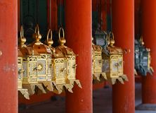 Golden Japanese latern Royalty Free Stock Image