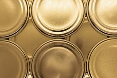 Golden jar lids background royalty free stock photo